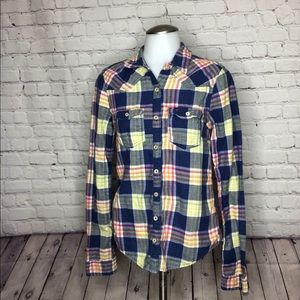Hollister flannel button-down size medium